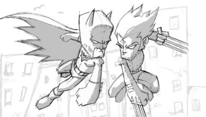 Batman Vs Wolverine Wallpaper Version 3