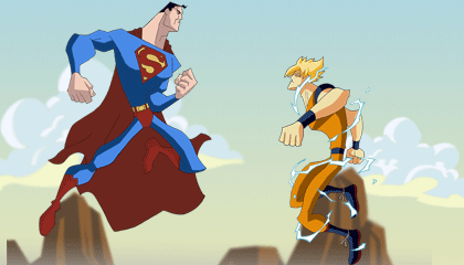 Goku Vs Superman Wallpaper Version 1