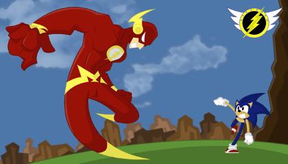 Sonic Vs The Flash Wallpaper Version 1