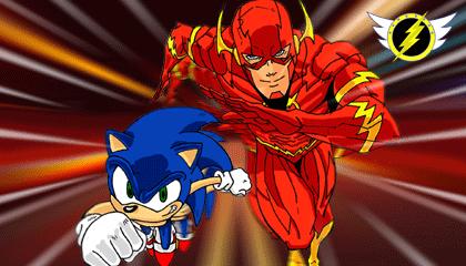 Sonic Vs The Flash Wallpaper Version 3