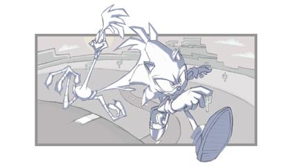 Sonic Vs The Road Runner Wallpaper Version 1