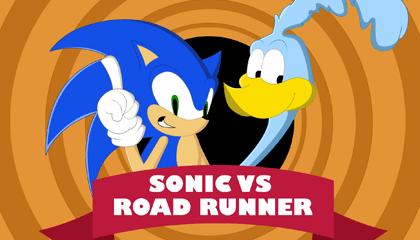 Sonic Vs The Road Runner Wallpaper Version 2