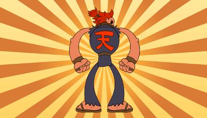 Street Fighter Akuma Popeye Style Wallpaper Version 1
