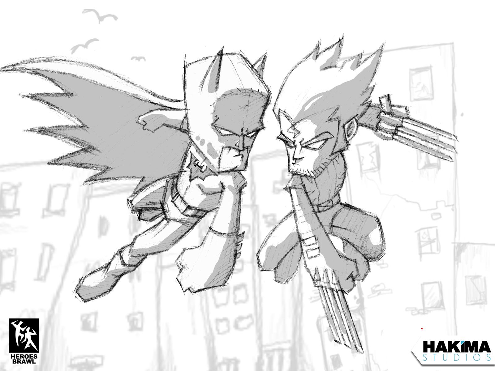 Batman Vs Wolverine Wallpaper 1600 X 1200 Version 3 Hakima Studios
